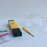 Medidas de pH de líquidos del hogar