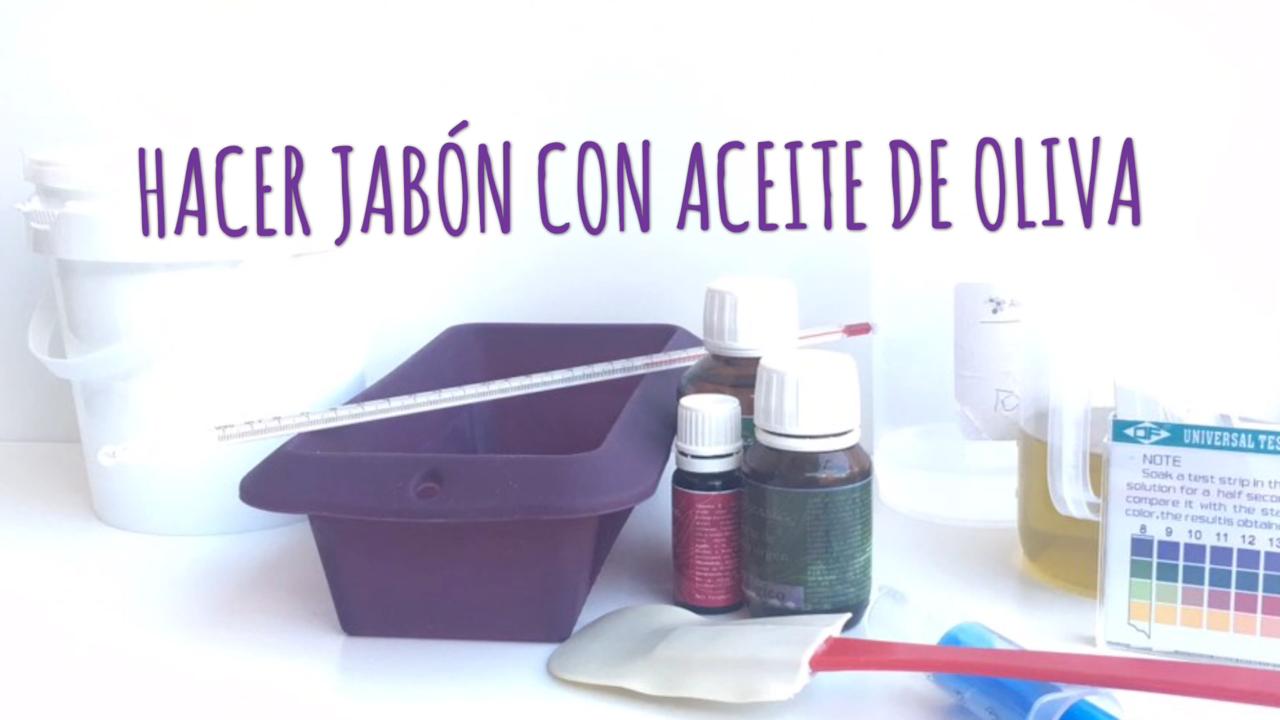 Hacer jabón con aceite y sosa