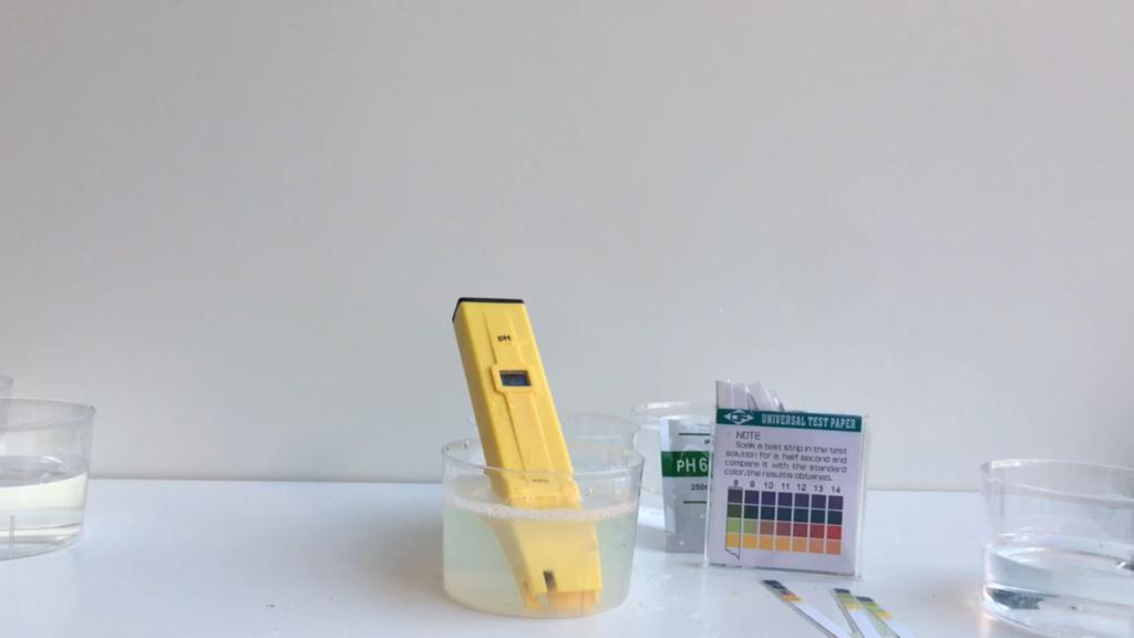 Medidas de pH de sustancias de casa